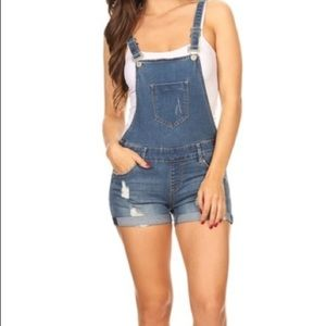 Pants - Denim Overall Shorts